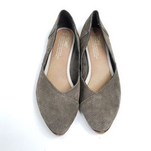 Toms pointed toe ballet flat